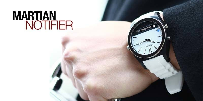 Wearing Martian Watches Notifier White
